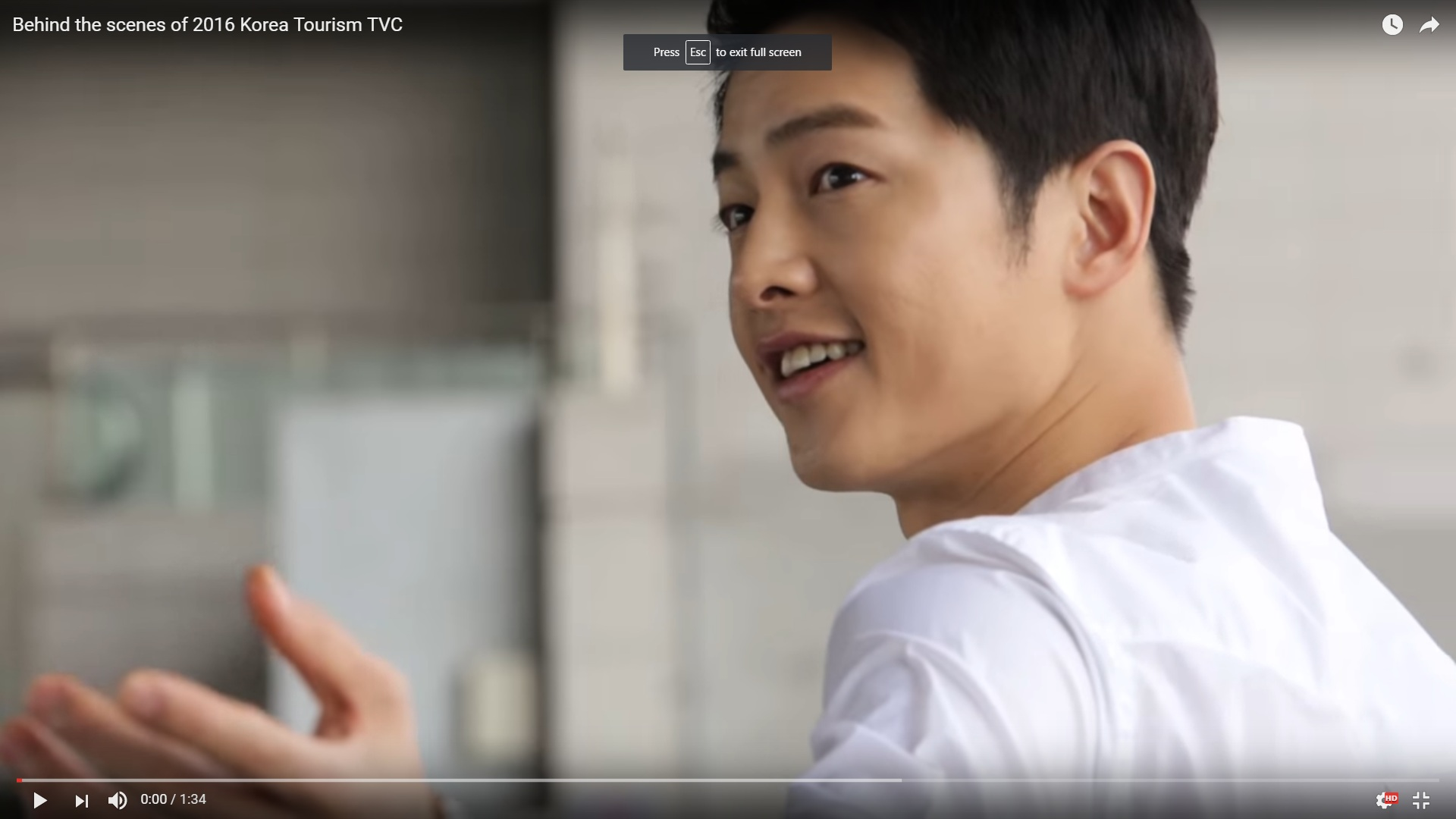 Behind the scenes of 2016 Korea Tourism TVC